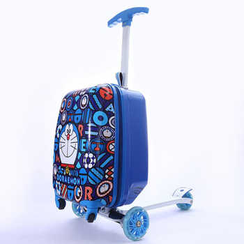 TRAVEL TALE child gift scooter suitcase cabin skateboard trolley lazy luggage bag for kids - DISCOUNT ITEM  29 OFF Luggage & Bags