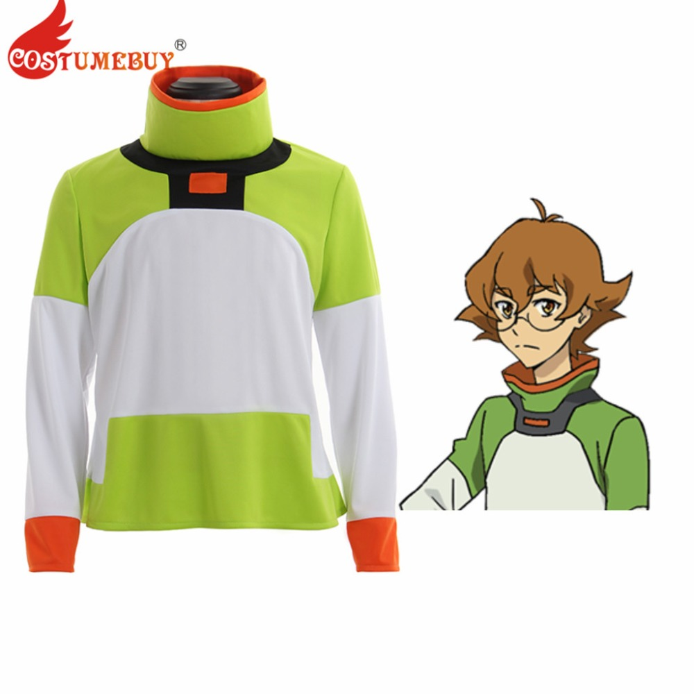 CostumeBuy Anime Voltron: Legendary Defender Cosplay Pidge Green Shirts Costume Long Sleeves Shirt Adult Unisex Top Jacket