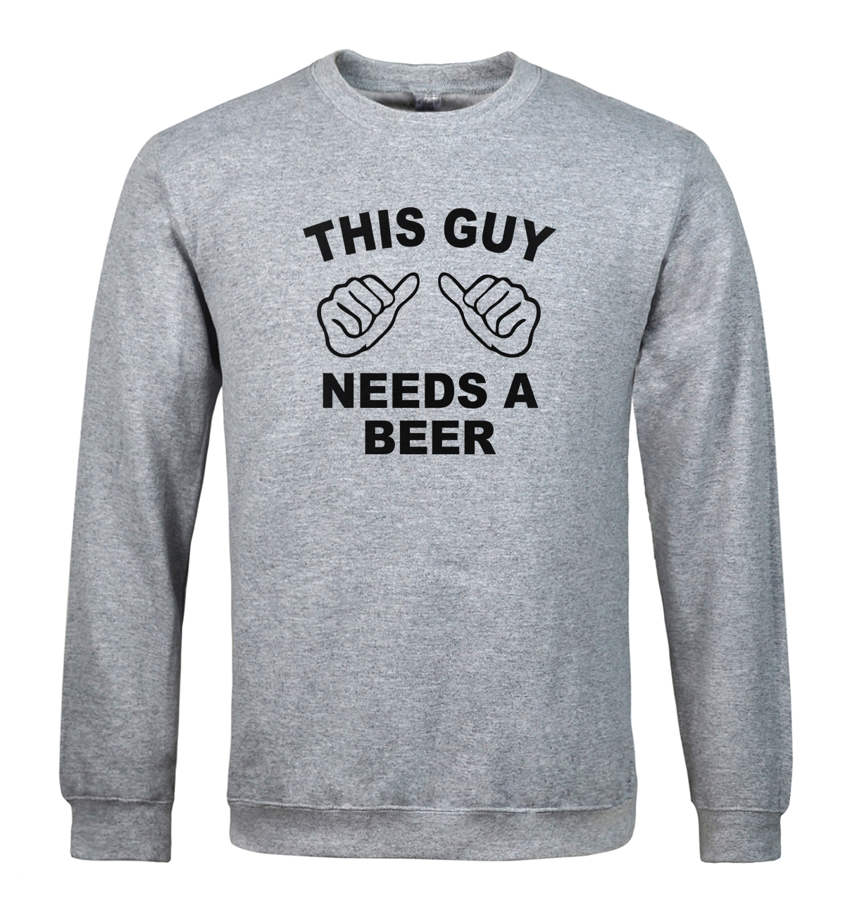 New arrival sweatshirt for men 2019 hoody letter print THIS GUY NEEDS A BEER funny hoodies men's sportswear tracksuits hoodie