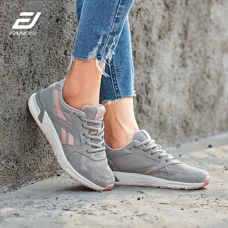 FANDEI invierno zapatos para correr de mujer al aire libre de los hombres Zapatos de deporte de mujer Zapatillas de deporte hombres Zapatillas de Hombre zapatos de mujer zapatos de cuero de gamuza de PE