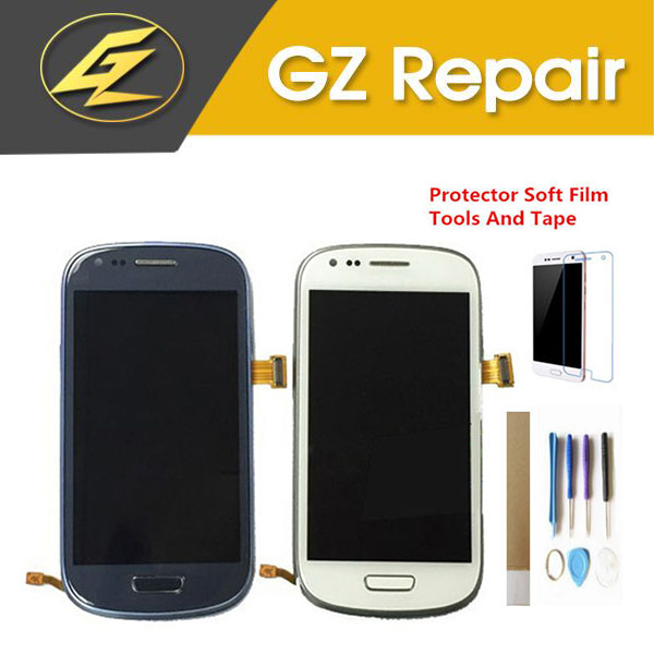 Blue White For Samsung Galaxy SIII S3 Mini i8190 LCD Display With Touch Sensor Glass Digitizer Assembly With Kits image