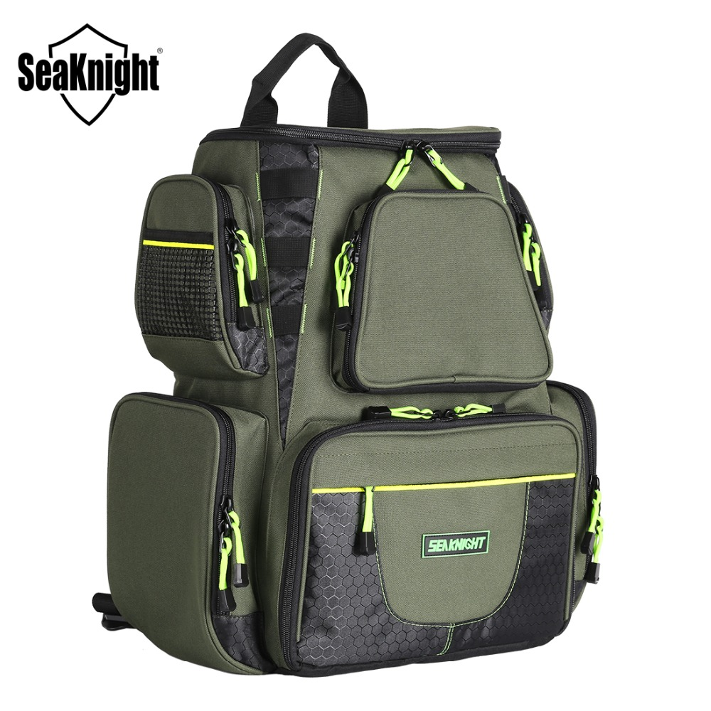 SeaKnight SK004 Fishing Bag Large Capacity 25L Multifunctional Bag  Outdoor Fishing Tackle Bag  41*44*20cm Nylon Backpack-in Fishing Bags from Sports & Entertainment    1