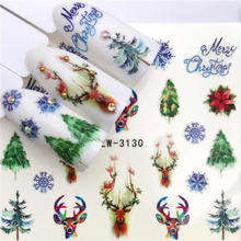 2020 New Arrivial Christmas Series Water Decal Animal / Flamingo / Flower 3D Manicure Sticker Nail Water Sticker