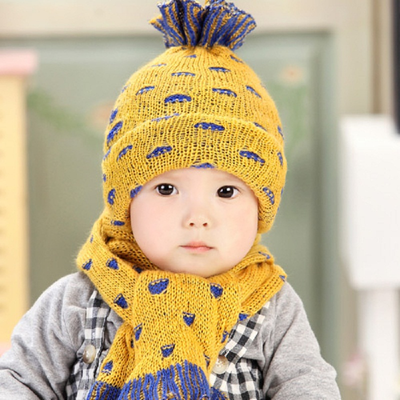Pineapple Hat Beanie Scarf Set Child Hat Scarf Sets Baby Toddler Hats Scarf  For Children Winter Baby Girl Boy Warm Caps C886-in Hats   Caps from Mother  ... 62bc7f1ebdb