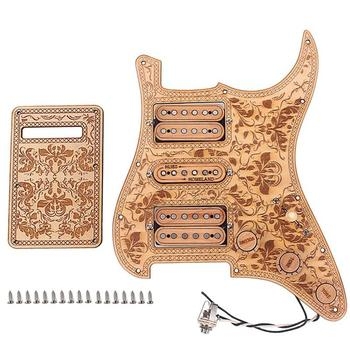 Maple Double Single And Double Electric Guitar Pickup Guard Plate Loading Guard Set