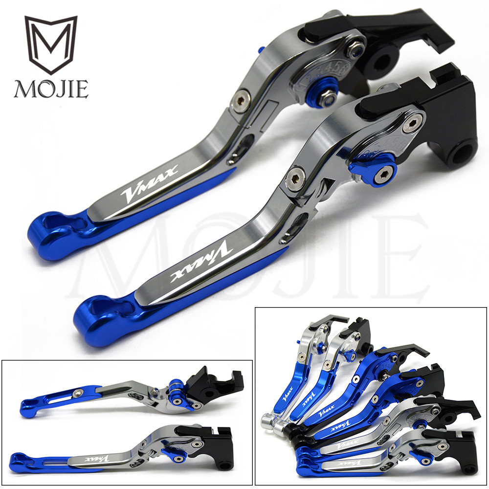 VMAX Logo Motorcycle Brake Clutch Levers For YAMAHA V-MAX V MAX 1200 1985-2008 1997 1998 1999 2000 2001 2002 2003 2004 2005 2006 for yamaha xt600e xt 600e 600 e 1990 2003 2002 2001 2000 1999 cnc folding extendable 147 short clutch brake levers 8 colors