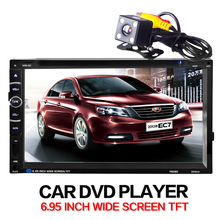Car dvd player In Dash Stereo MP3 Head Unit CD Camera parking 2 din autoradio Video steering-wheel car multimedia