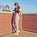 2015 Rushed Real Punk Jen Selter Fitness Women  Leggings For  Clothes Roupa De Academia Feminino Elastic