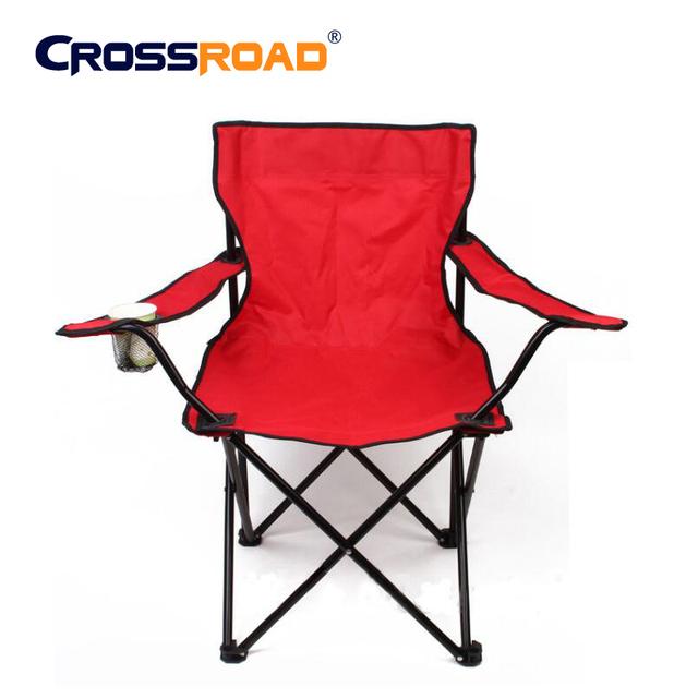 Large50X50X80cm Alta qualidade cadeira de metal móveis de Acampamento churrasco Ao Ar Livre cadeira dobrável portátil cadeira de pesca de praia leve