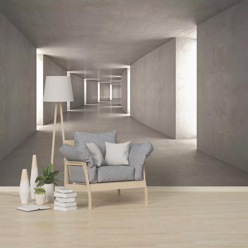 Custom 3D Wall Mural Wallpaper 3D Space Grungy Nordic Wall Cloth Living Room Sofa Background Wall Home Decor Papel De Parede 3D