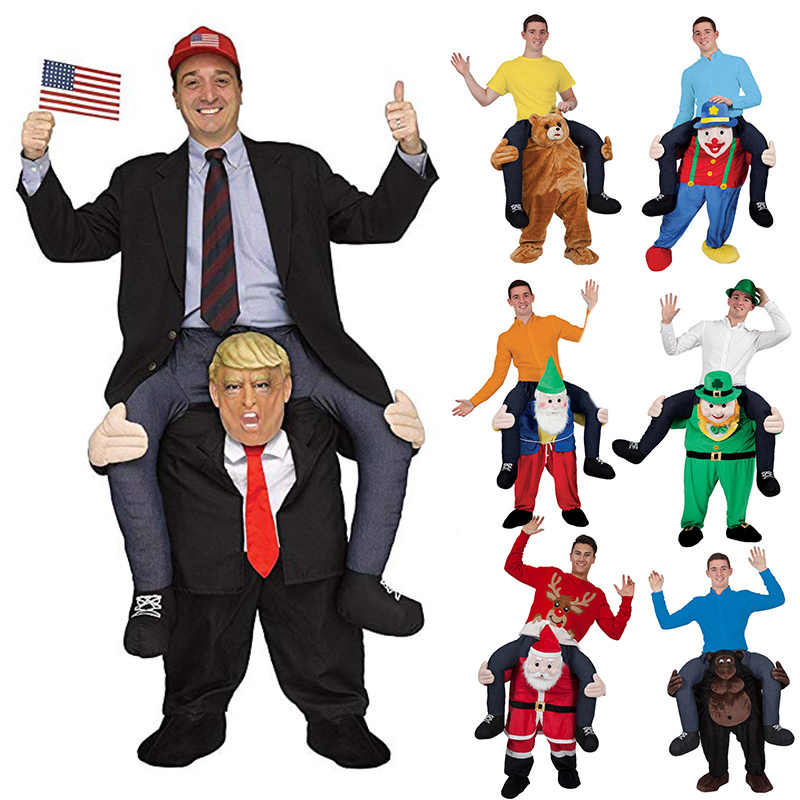 Horse Riding Donald Trump Pants Joke Prank Halloween Party Dress Up Ride Carry Back Novelty Inflatable Magic Costumes Clothes