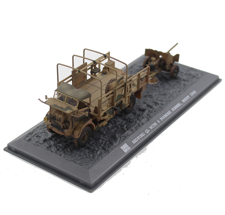ФОТО Out of print Rare boutique Warmaster 1:72 TK0043 World War II BEDFORD military card + artillery model Alloy model