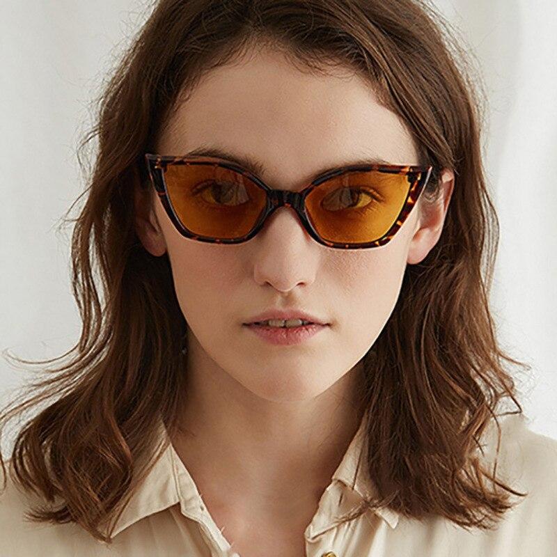 Retro Sunglasses Female Cat Eyes Luxury Brand Designer Small Ladies Black Glasses 6 Colors