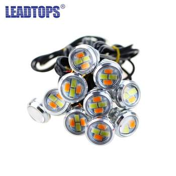 LEADTOPS 100pcs 23mm Car LED Styling DRL Turning Signal Light Eagle Eye Light Daytime Runing Lamps  For Car  Waterproof 12V BE