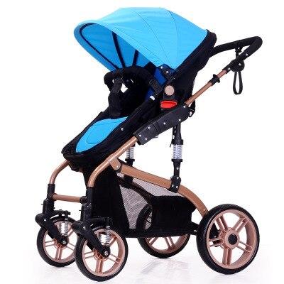 alta paisagem carrinho de bebe dois way shock absorber leve carrinho de crianca pode sentar