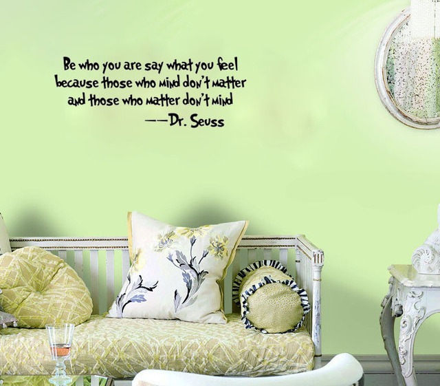 Dr Seuss Wall Decal Quote Be Who You Are Say...wall Art Decals