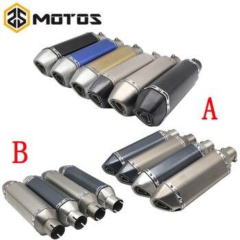 ZS MOTOS 51MM, motocicleta Ak, tubo de Escape con silenciador, Moto, olla de Escape para Yamaha Honda KTM Kawasaki Ducati Slip-on