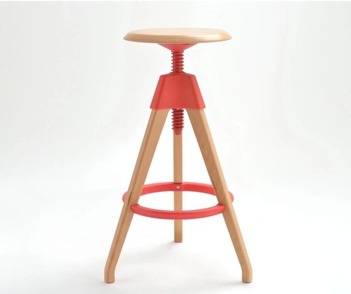 fashion bar stool lifting wood chair hotel restaurant stool red white black color american bar chair lifting rotation solid wood chair the foot stool coffee chair