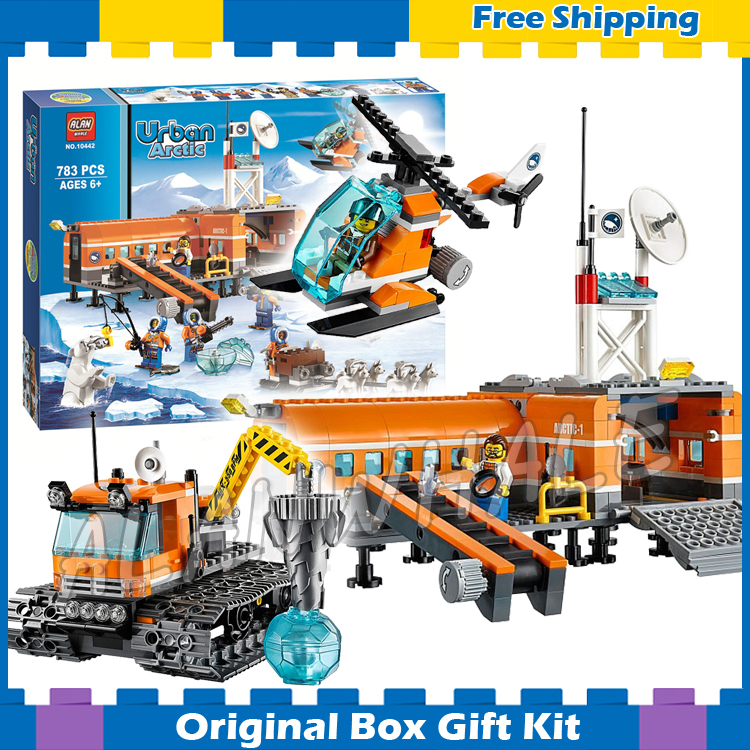 783pcs City Arctic Base Camp New 10442 DIY Sets Model Building Blocks Figures Bricks Children Gifts Toys Compatible with Lego lepin 02012 city deepwater exploration vessel 60095 building blocks policeman toys children compatible with lego gift kid sets