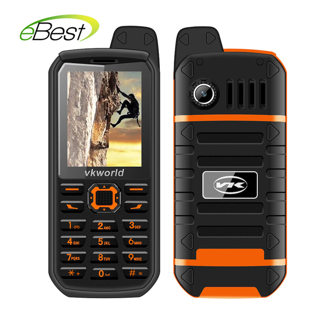 VKWorld Stone V3 Plus 3000mAh Battery  Mobile Phone 2.4 inch IP54 Waterproof FM Radio Dual SIM GSM CellPhones