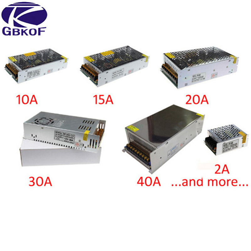 DC <font><b>12V</b></font> <font><b>Power</b></font> <font><b>Supply</b></font> Lighting Transformer driver Switch for LED Strips Adapter AC 220V DC 2A 3A 5A 6.5A 10A 15A 20A <font><b>25A</b></font> 30A 33A image