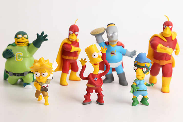 Hkxzm Anime Mainan Keluarga Simpsons PVC Figure Collectible Model Mainan Hadiah