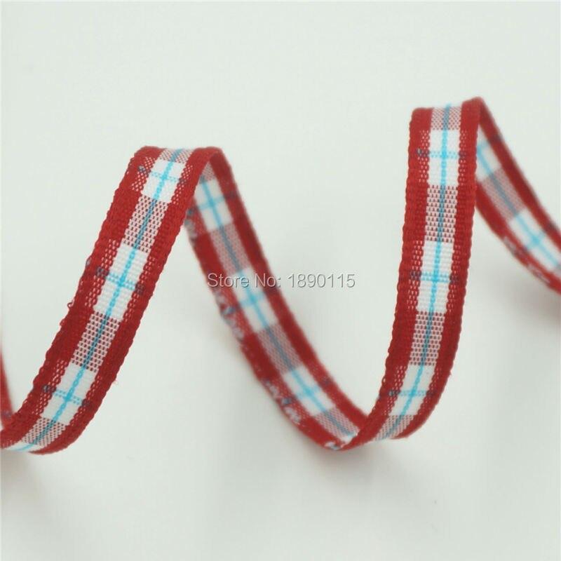 TALA 20meters roll 1 4 font b Tartan b font Plaid Ribbon Polyester Scottish Ribbons Bows