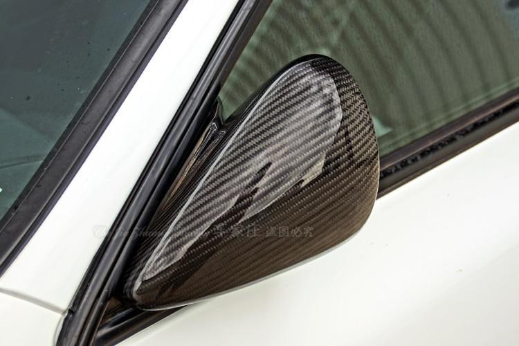 Top quality all real carbon fiber car outside exterior rearview mirror assemblies for 1997-2000 Subaru Impreza STI GC8