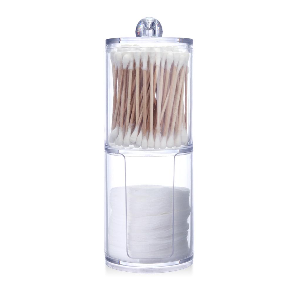 Acrylic Storage Container for Makeup Cotton Pads and Cotton Swabs 5