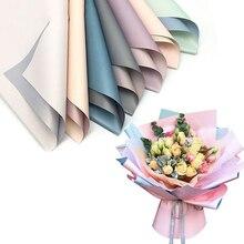 20 шт. корейские цветы двухцветная бумажная упаковка подарочная упаковка нейтральный цвет флористическая Упаковка Бумажные цветы букет поставки
