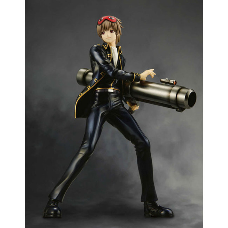 High Quality Japanese Amine Silver Soul GINTAMA Okita Sougo 22cm PVC Action Figure Toys Models Gifts Kids Toys Free Shipping female to female f f 1 2 pt threaded yellow lever handle brass ball valve