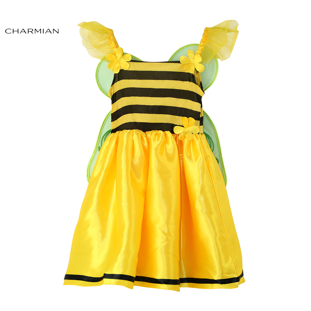 Charmian Baby Buzzing Daisy Bee Halloween Costumes for Kids Cosplay Fancy Dress Masquerade Party Halloween Costume Clothing