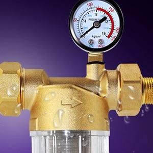 Image 5 - 水プレフィルターシステム2/5インチ & 1インチ真鍮メッシュプレフィルター清浄機w/減速アダプタ & ゲージ