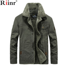 Riinr New Hot Winter Bomber Jacket Men Air Force Pilot MA1 Jacket Warm Male fur collar Army Jacket tactical Mens Jacket Size 6XL(China)