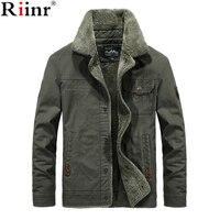 Riinr New Hot Winter Bomber Jacket Men Air Force Pilot MA1 Jacket Warm Male fur collar Army Jacket tactical Mens Jacket Size 6XL
