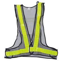 Hi-Viz светоотражающий жилет, чтобы вы были заметны Предупреждение дорожно-строительная страховочная Шестерни черного, желтого цвета
