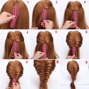 Image 2 - 6 Styles Lady French Hair Braiding Tool Weave Braider Roller Hair Twist Styling Tool DIY Accessories