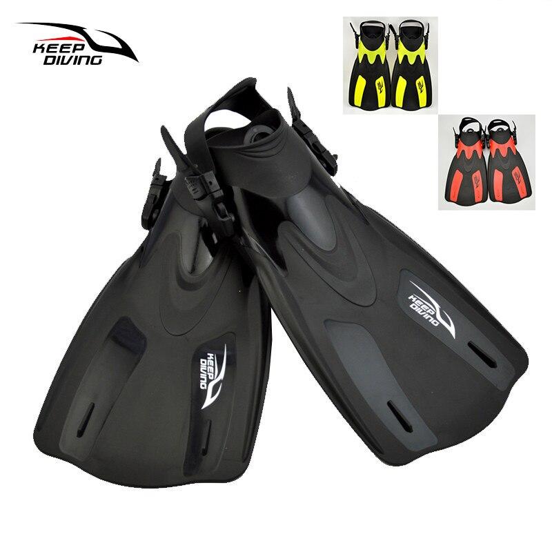 Garder la plongée en apnée plongée palmes de natation pied Flipper palmes de plongée Trek équipement de plongée professionnel pour adulte