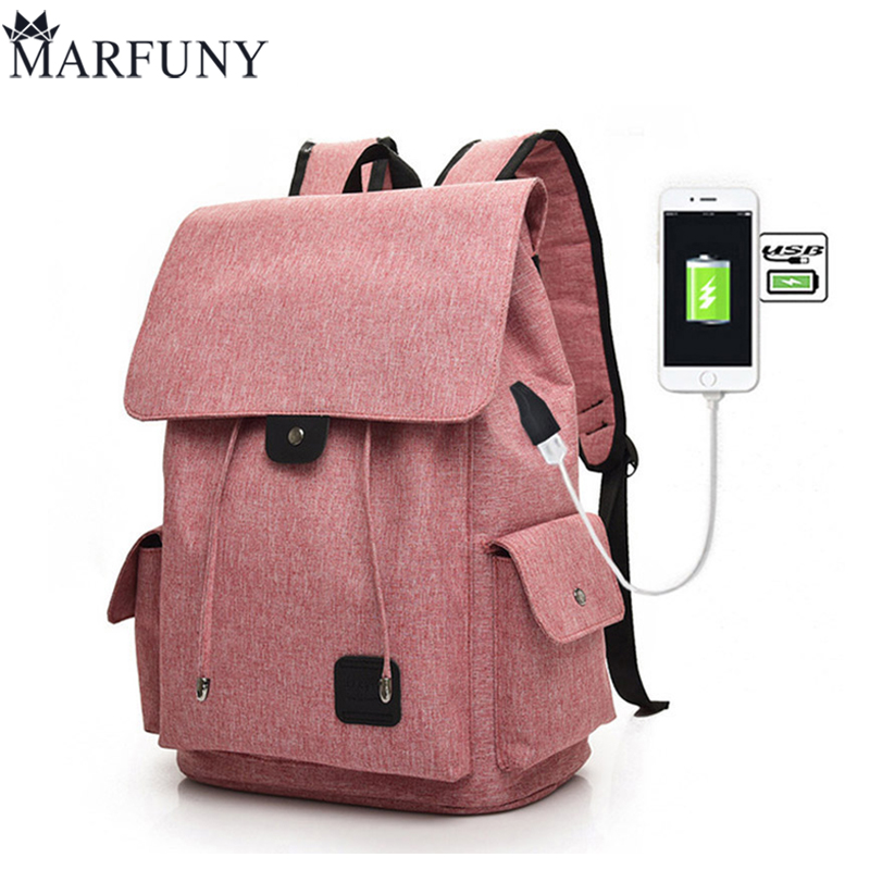 Fashion USB Charging Laptop Backpack For Women Men Backpack SchoolBag Female Mochila Backpacks For Teenage Girls Travel Backpack цена