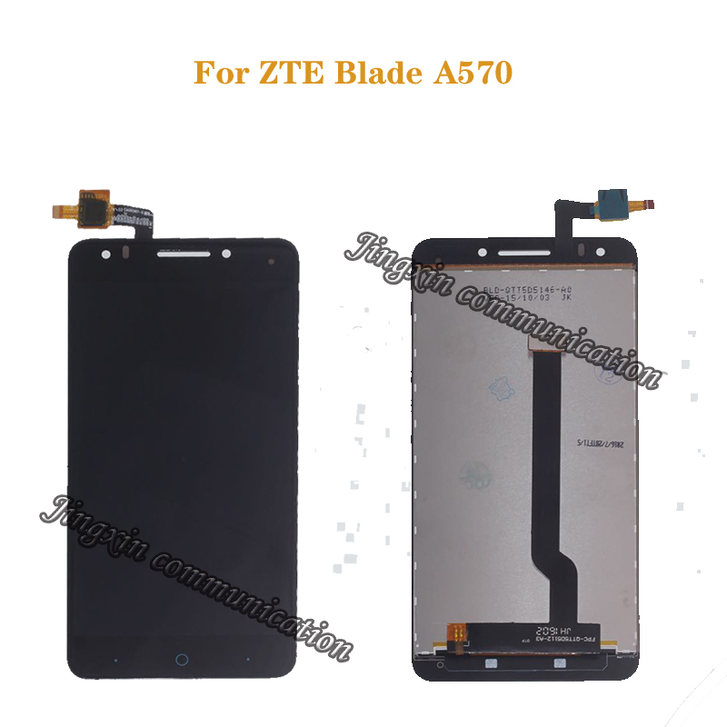 For ZTE Blade A570 LCD Display + Touch Screen Digitizer Assembly Replacement 100% Original Tested Free shipping+tools-in Mobile Phone LCD Screens from Cellphones & Telecommunications
