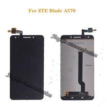 ل ZTE بليد A570 شاشة الكريستال السائل مجموعة المحولات الرقمية لشاشة تعمل بلمس استبدال 100% الأصلي اختبار شحن مجاني أدوات