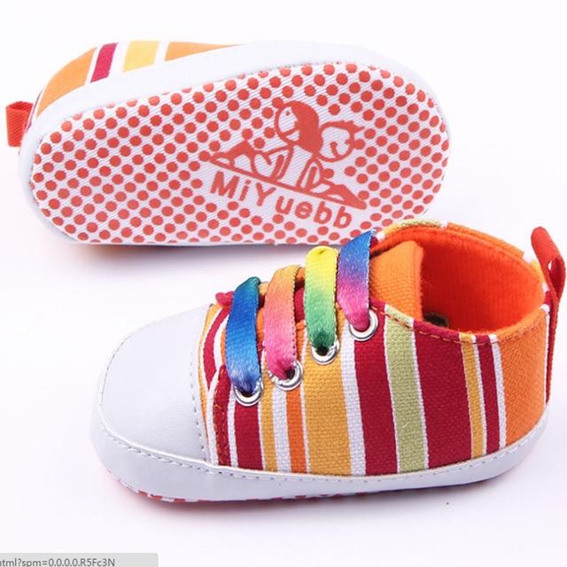 a34815de6fb Baby jongens meisjes Lente Herfst uitbarstingen van kleur baby canvas  schoenen baby schoenen peuter schoenen schoenveters