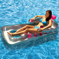 Летние воды плавательный матрац надувные воздушные матрасы с 18 подстаканники плавающее кресло для бассейна поплавок расслабиться плавающ...