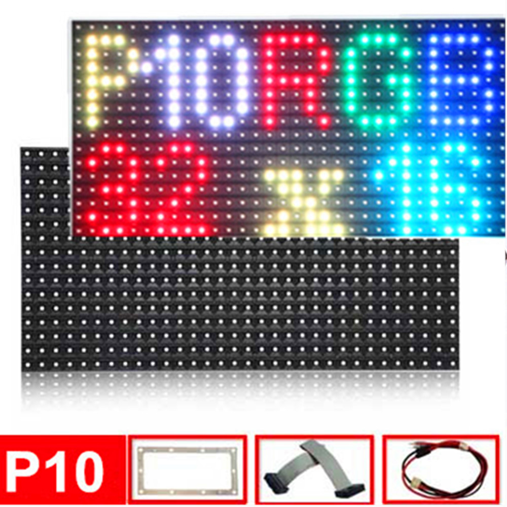P10 Outdoor SMD RGB Full Color Led Display Video Module 320x160mm ,1/4 Scan DIY LED Screen Waterproof Smd 3535 RGB Led Panel