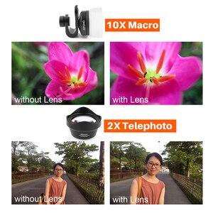 Image 5 - Ulanzi Ampio Angolo di Obiettivo Macro per iPhone Android Fisheye Ritratto Teleobiettivo con la Clip per il iPhone Xs Max XR X piexl Samsung