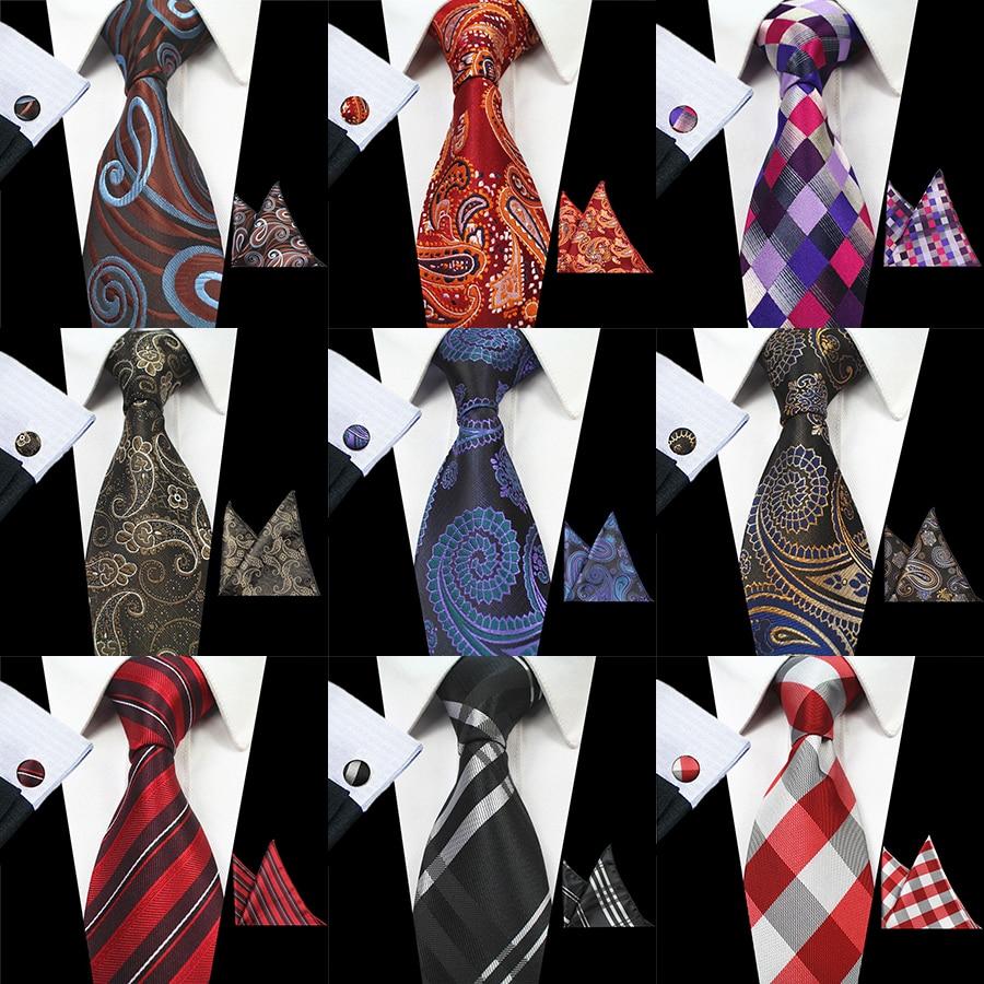 RBOCOTT 8 cm Silk Jacquard Tenunan Mens Paisley Tie Hanky - Aksesori pakaian - Foto 2