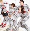 2016 Star Wars Рождественские Семейные Пижамы Набор Мать Дочь Отец Сына Малышей Одежда Семья Одежда Устанавливает Родитель-Ребенок Набор YN8
