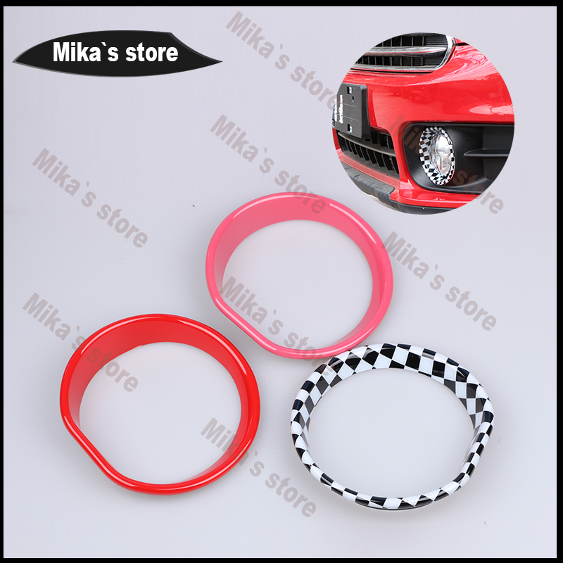 Car-styling outdoor fog light circle sticker for mini cooper F60 countryman car-styling decoration light circle accessories 2pcs aliauto car styling side door sticker and decals accessories for mini cooper countryman r50 r52 r53 r58 r56