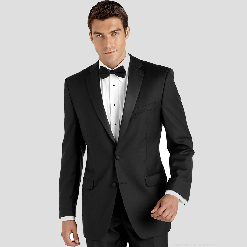 Costume Homme Suit Black Wedding Suits for Men Groom Suit Formal Tuxedo Slim Fit Groomsmen Man Blazer Jacket Best Men 2 Piece
