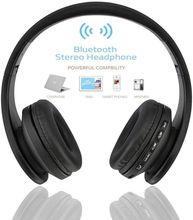 Самые продаваемые беспроводные наушники Andoer, цифровая стереогарнитура Bluetooth 4,1 EDR, гарнитура с картой, mp3 плеером, наушники, FM радио, музыка для всех